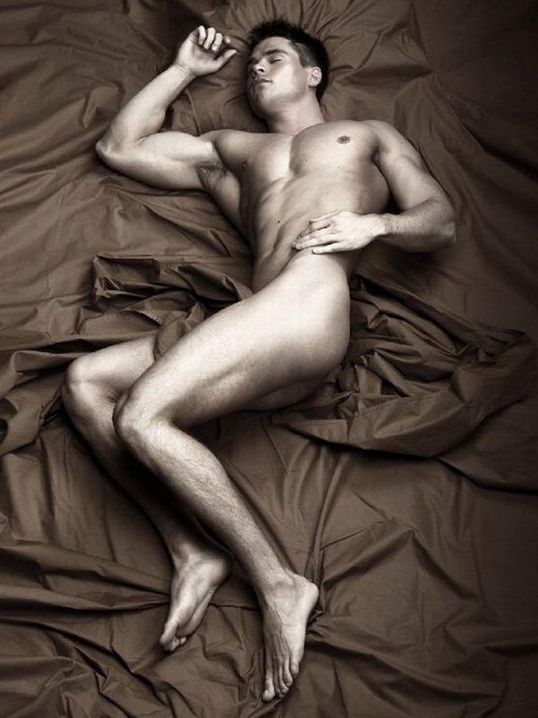 Nude man cocks